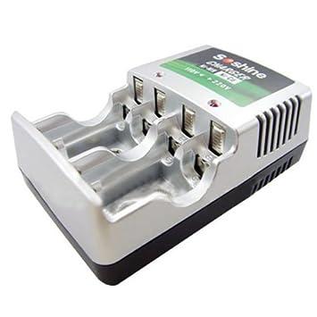 Ni-MH / Ni-CD AA / AAA / 9V Cargador de pilas recargables ...