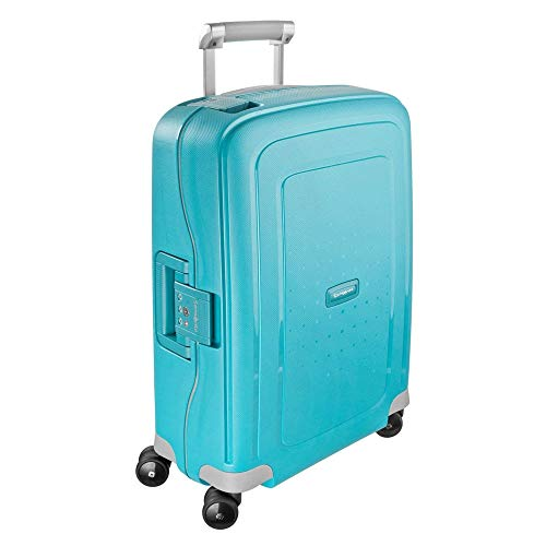 Samsonite S'Cure Hardside Carry On Luggage with Spinner Wheels, 20 Inch, Aqua Blue