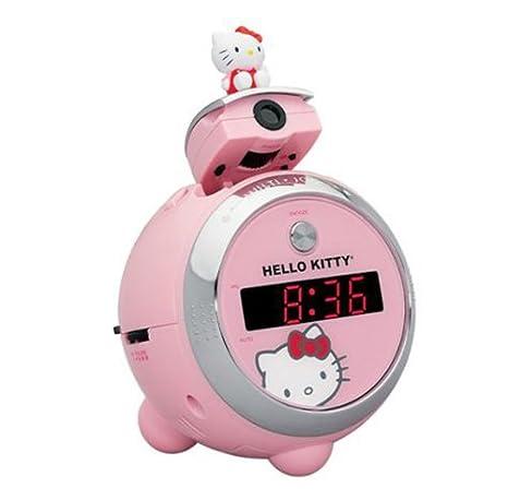 Radio Reloj Despertador Con Proyector Hello Kitty: Amazon.es: Juguetes y juegos