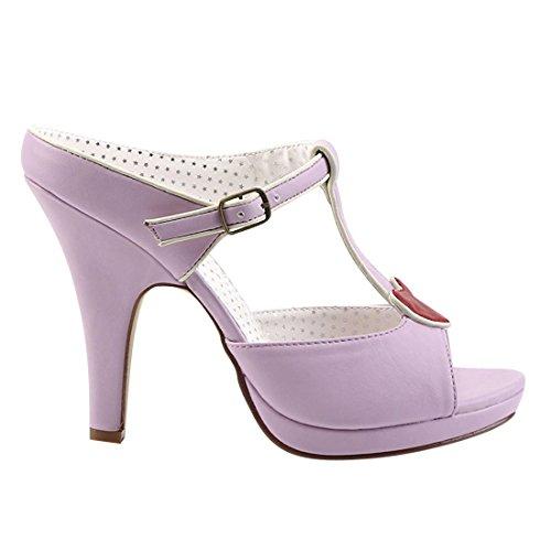 Pin Up Couture SIREN-09 Lavender Faux Leather UK 6 (EU 39) ko8ek1jhav