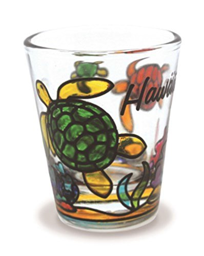 Happy Honu Stained Shot Glass ()