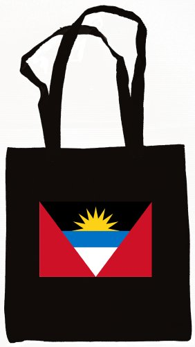 Antigua & Barbuda Flag Tote Bag Black