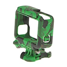 MonkeyJack Camouflage Frame Mount Protective Housing Cover for GoPro Hero 5 Camera - Green
