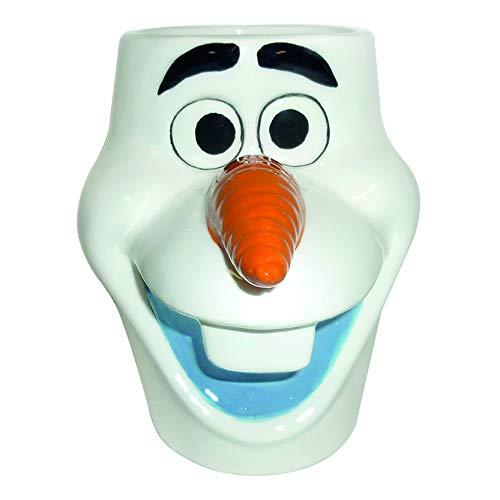 Vandor Disney Frozen Olaf Head Sculpted Ceramic Soup Coffee Mug Cup, 20 Ounce