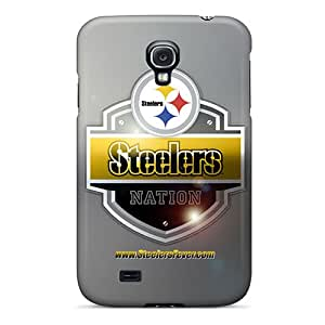 Excellent Cell-phone Hard Covers For Samsung Galaxy S4 With Custom Beautiful Pittsburgh Steelers Pattern AaronBlanchette