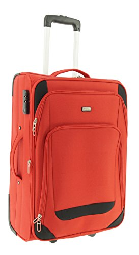 Maletín de plástico Airport Color Rojo Tamaño L Plástico Viaje Maleta Case FA. bowatex