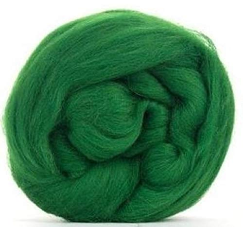 4 oz Paradise Fibers 64 Count Dyed Forest (Green) Merino Top Spinning Fiber Luxuriously Soft Wool Top Roving for Spinning with Spindle or Wheel, Felting, Blending and Weaving ()