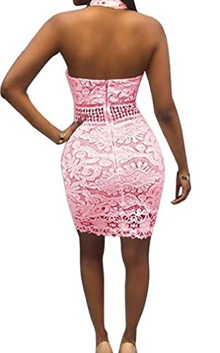 Backless Coolred Women's Skinny Pink Lace Accept Waist Mini Dress Bodycon vwZO7qwxBP