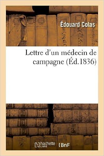 Livres Lettre d'un médecin de campagne pdf, epub