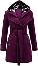 Amazon.com: Purple - Wool & Blends / Wool & Pea Coats: Clothing