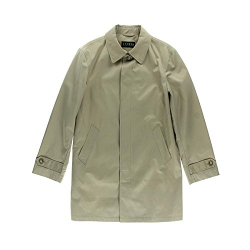 Lauren Ralph Lauren Mens stanza Water Resistant Lined Raincoat Tan 46L by Lauren by Ralph Lauren