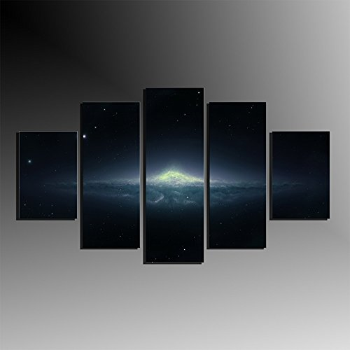 5 Pieces Wall Art Decor Modern Andromeda Galaxy Oil Painting Landscape Canvas Printings Living Room Wall Pictures No Frame