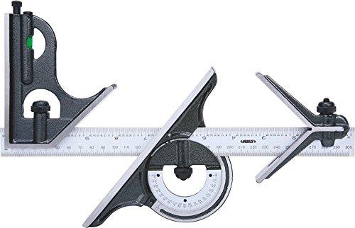 INSIZE 2278-180 Combination Square Set,  1/32'', 0.5 mm, 1/64'', 1 mm Graduation