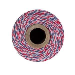 Bakers Twine - 240 Yards (Airmail - Red Blue White)