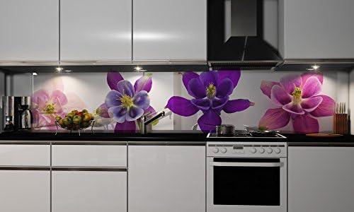 Film autocollant décoratif pour cuisine - Protection anti-éclaboussures, H: 55cm x B: 250cm