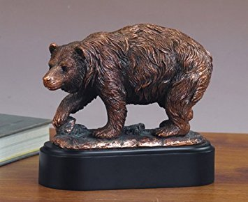 Walking Bear Statue - Bronze