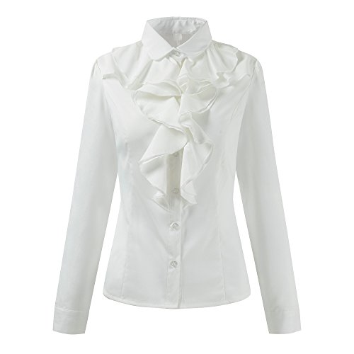 Ruffle Stand Collar Shirt - 3