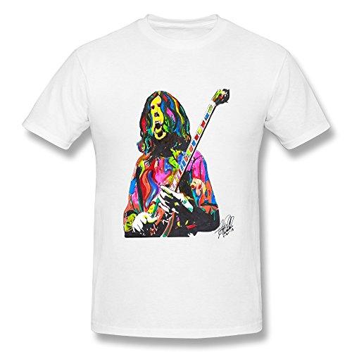 LANFENG Men's Duane Allman The Allman Brothers Band T-shirt Size S White
