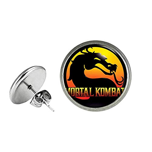 Mortal Kombat Fashion Novelty Post Earrings Console Game Series with Gift Box]()