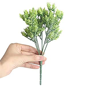 SANGQU 1Pcs Artificial Fake Flowers Leaves Grass Plant Floral Real Touch Looking Plastic Material for Party Wedding Bouquet Decor, Garden Craft Art,Office Centerpiece Home Decor(Vase not Included) 49