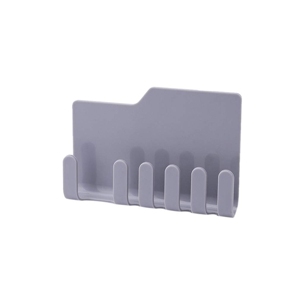 MOVEmen Practical Wall Phone Holder Socket Charging Box Bracket Stand Kitchen Holder Toothbrush Holder Kitchen Corner Storage Rack Washing Rack Drain Rack Bathroom Towel Rack (Grey) by MOVEmen (Image #2)