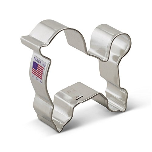 Ann Clark Poodle Cookie Cutter - 3 Inches - Tin Plated Steel