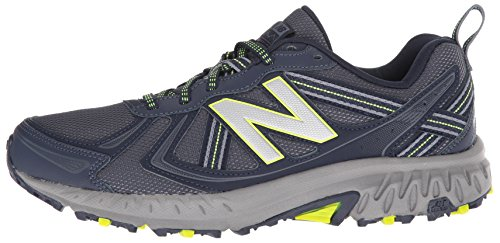 New Balance Men's MT410v5 Cushioning Trail Running Shoe, Navy/Yelow, 7.5 D US by New Balance (Image #5)