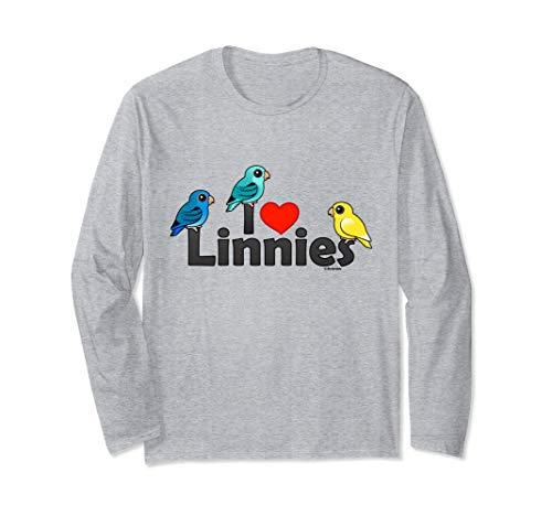 I Love Linnies Shirt | Barred Parakeet | Lineolated Parakeet