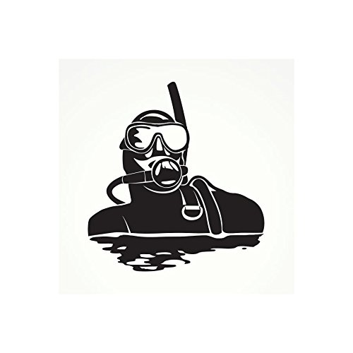 Review Decal Stickers Scuba Skull