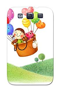 New Arrival Case Specially Design For Galaxy S3 (girl And Her Teddy Bear Flying )