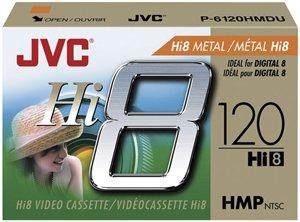 JVC P6120HMDU 120-Minute Hi8 Metal Particle Video Tape (Single)