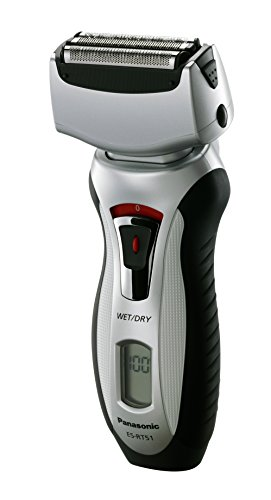 Wet/Dry 3 Blade Mens Shaver Pivoting Head & Pop-Up Trimmer