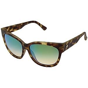Electric Eyewear Women's Danger Cat Polarized Pineapple Tortoise/Ohm Green Chrome Sunglasses