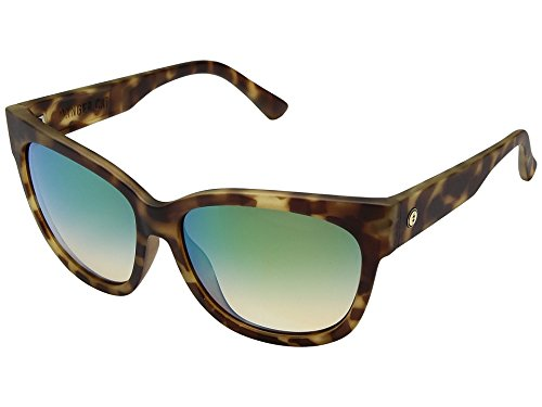 Electric Eyewear Women's Danger Cat Polarized Pineapple Tortoise/Ohm Green Chrome Sunglasses by Electric Visual