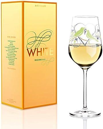 RITZENHOFF 36 cl Anissa Mendil Wine Glass, White