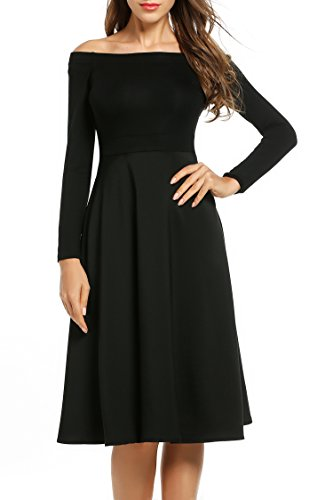 Buy below the knee black sheath dress - 8
