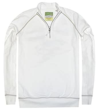 Tommy Bahama Men's Grapefruit League Half-zip Sweatshirt (Medium, Continental)