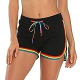 HDE Womens Rainbow Striped Retro Fashion Dolphin
