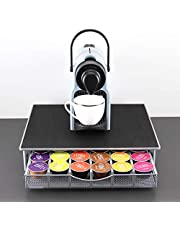 Coffee Capsule Holder Box for Dolce Gosto Drawer Style Coffee Pods Storage Organizer Space-Saving Non-Slip Sound-Absorbing Holder 36 Pcs Capacity