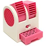 GOSFRID with GF LOGO Plastic Small Air Conditioner Water Cooler, Mini Fan and Dual Bladeless for Use in Car/Home (Multicolour)