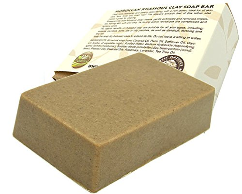 Moroccan Rhassoul clay soap bar. All Natural SLS Free. 4 oz
