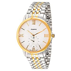 Starking Men's White Dial Stainless Steel Band Watch - BM0823GS81