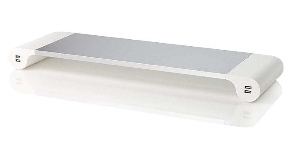 羊のが欲しいフェンスサンワダイレクト 机上ラック 100-MR056W デジタルステーショナリー USBポート&マルチカードリーダー付 机上台 ホワイト