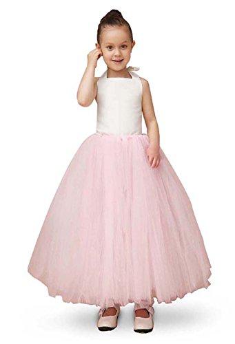 Alicorn Girl's Pink White Princess Strappy Tutu Dress for Party Wedding (Wedding Dress Halloween Ideas)