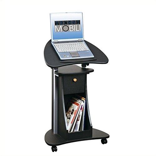 Scranton & Co Deluxe Height Adjustable Laptop Cart in Black by Scranton & Co