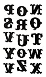 Set of 1 Cool Gothic Letters DIY Name Body Tattoo Stickers Fake Tattoos Designs