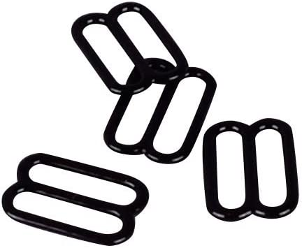 13mm Opening Porcelynne Black Nylon Coated Metal Replacement Bra Strap Slide Hook 1//2 100 Pairs 200 Pieces
