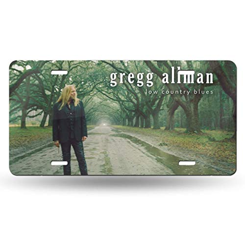 - Bayarsea License Plate Gregg Allman Low Country Blues 3D Funny Auto Car Tag Metal Cover