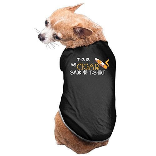 This Is My Cigar Smoking Logo Dog Costume Puppy Jackets (Dog Smoking Jacket Costume)