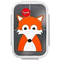 3 Sprouts Lunch Bento Box - Fox, Grey